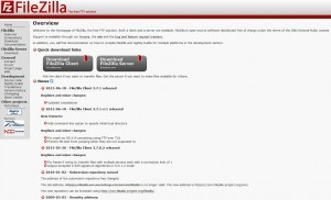 Site officiel Filezilla Server