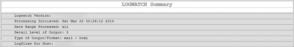 Rapport HTML de Logwatch